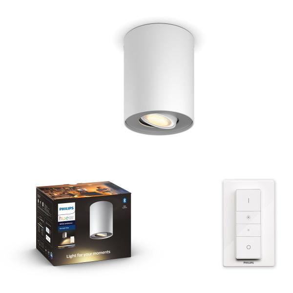 Philips Hue Pillar Spotlight BT / 5W / 1x – Vit