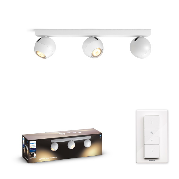 Philips Hue Buckram Spotlight BT / 5W / 3x – Vit