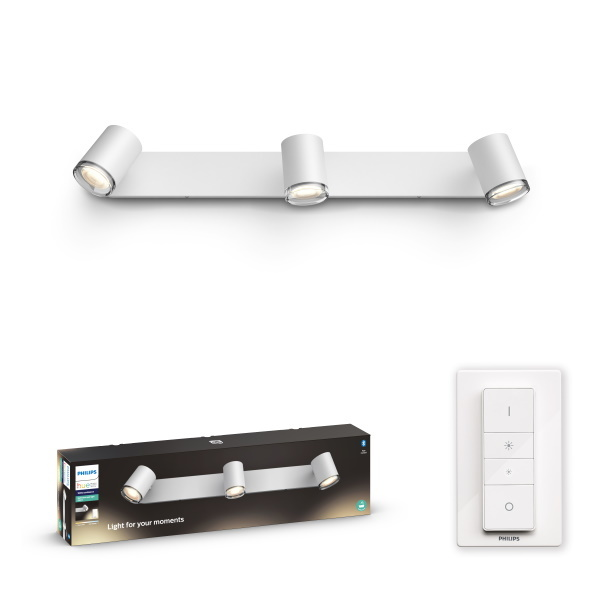 Philips Hue Adore Spotlight BT / 5W / 3x – Vit