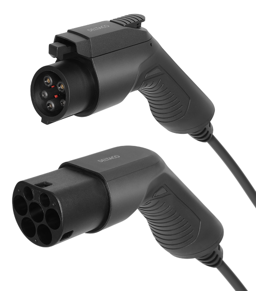 DELTACO e-Charge cable type 2 – type 1 1 phase 16A 7M