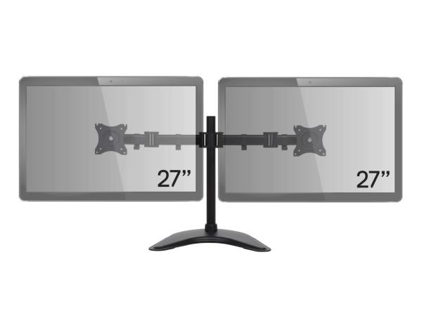 iiglo Skärmfäste MMS202 till dubbla monitorer (13-27 max 8 kg per) fot/klämfäste VESA 75/100 sv
