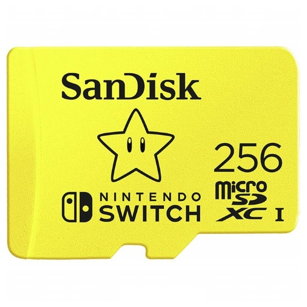 SanDisk Nintendo Switch – 256GB / MicroSDXC / Class 10 / UHS-1 / 100MB/s
