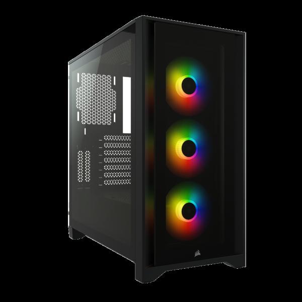 Corsair iCUE 4000X RGB / Tempered Glass - Svart