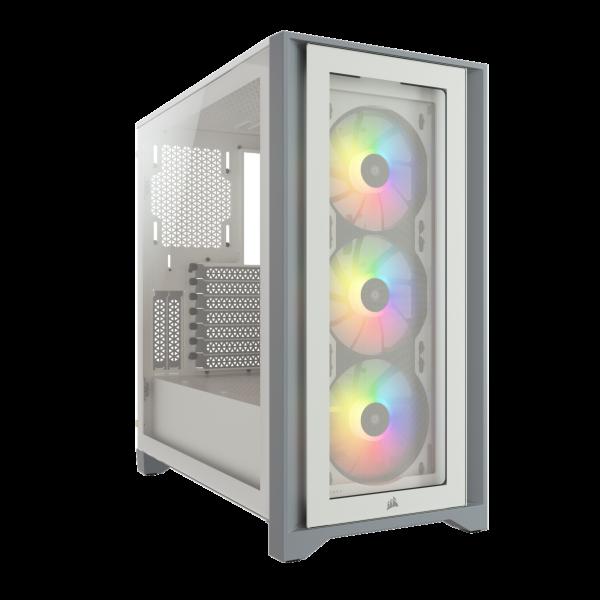 Corsair iCUE 4000X RGB / Tempered Glass - Vit