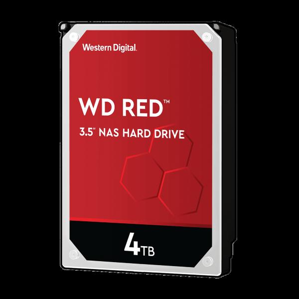 WD Red 4TB / 256MB Cache / 5400 RPM (WD40EFAX) (Fyndvara - Klass 1)