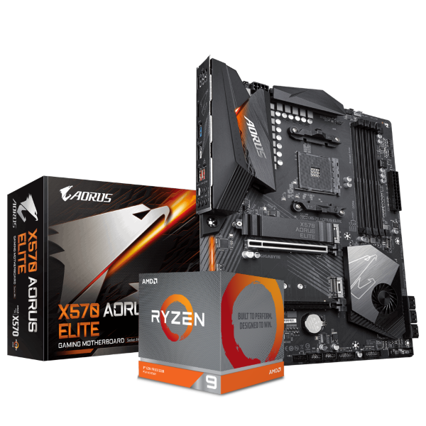 Gigabyte X570 AORUS ELITE + AMD Ryzen 9 3900X