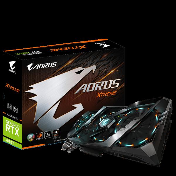Gigabyte GeForce RTX 2080 Ti Aorus Xtreme 11GB (GV-N208TAORUS X-11GC) (Fyndvara – Klass 3)