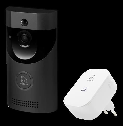Deltaco Smart Home Dörrklocka med kamera (Fyndvara - Klass 1)