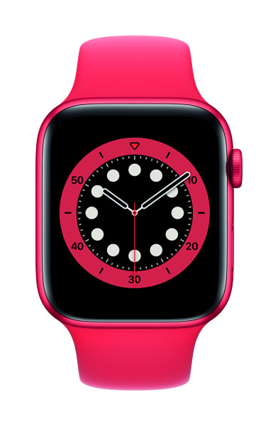Apple Watch Series 6 - 44mm / GPS / Aluminium Case / Red Sport Band