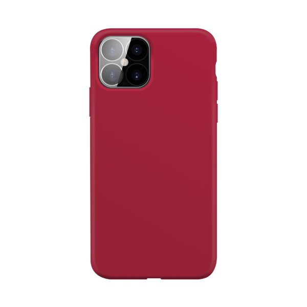 iPhone 12 Pro Max / XQISIT / Silikon / Antibakteriell – Röd