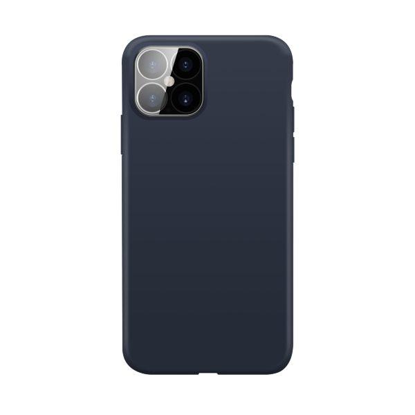 iPhone 12/12 Pro / XQISIT / Silikon / Antibakteriell – Blå