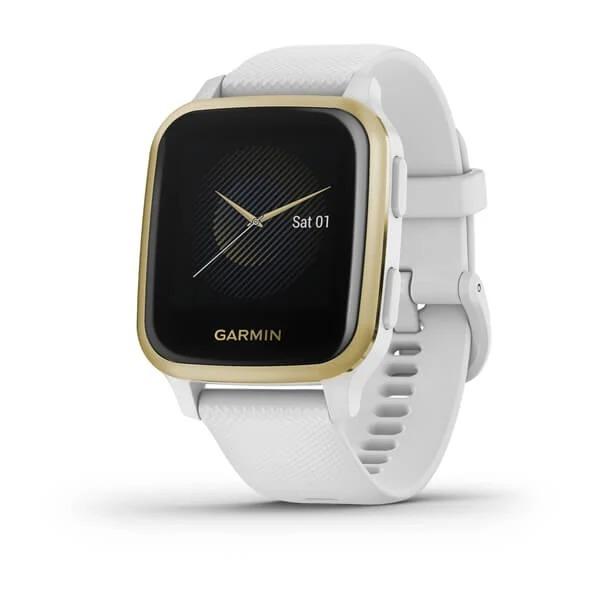 Garmin Venu Sq NFC – White/Light Gold