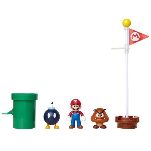 Super Mario - Acorn Plains Figurpaket 6 cm