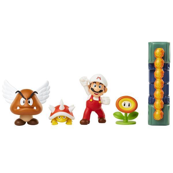 Super Mario - Lava Castle Figurpaket 6 cm