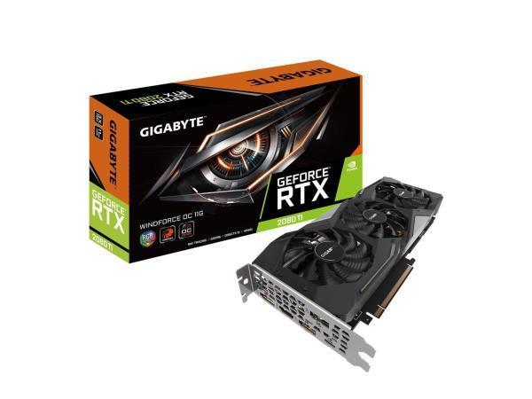 Gigabyte GeForce RTX 2080 Ti Windforce III OC 11GB (GV-N208TWF3OC-11GC) (Fyndvara – Klass 3)