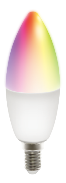 Deltaco Smart Home LED-lampa E14 / WiFI / 24GHz / 5W / 470lm / dimbar