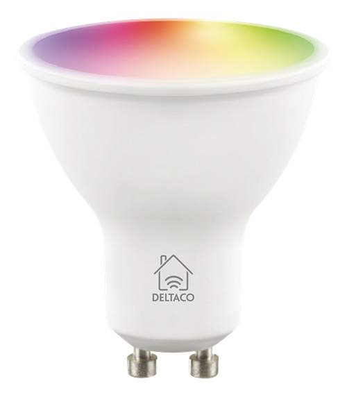 Deltaco Smart Home LED-lampa GU10 / WiFI / 24GHz / 5W / 470lm / dimbar