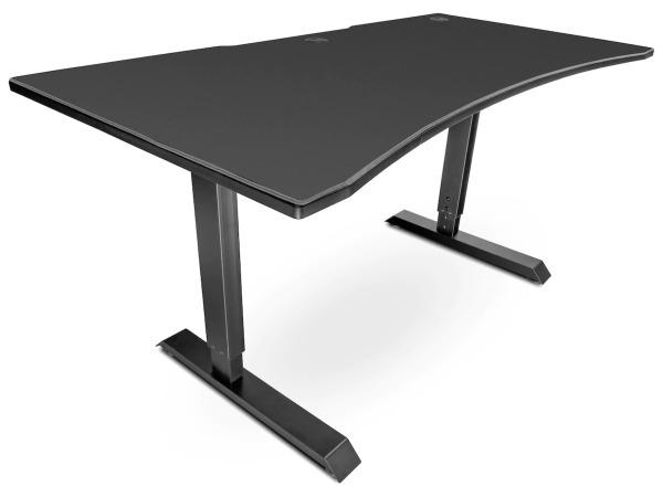 Svive Altair Gaming Desk - Mattsvart med grå sömmar