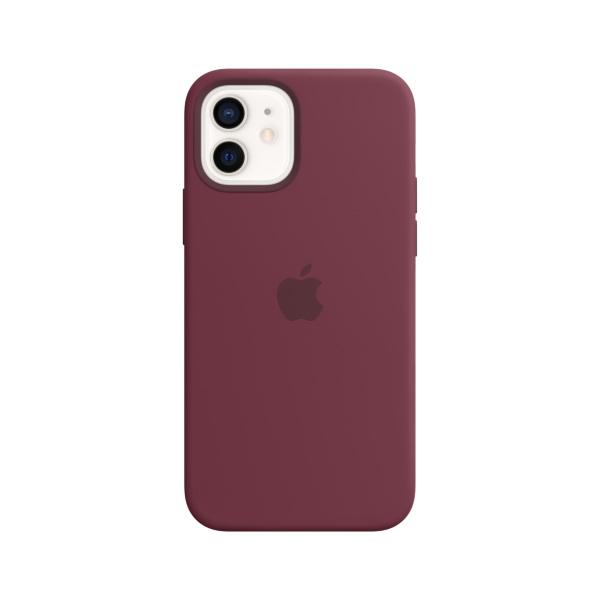 Silikonskal med MagSafe till iPhone 12 och iPhone 12 Pro – Plommon