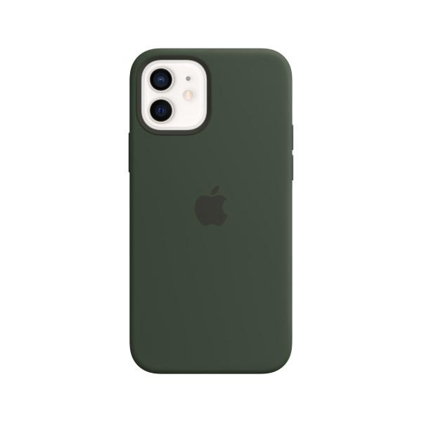 Silikonskal med MagSafe till iPhone 12 och iPhone 12 Pro – Cyperngrön