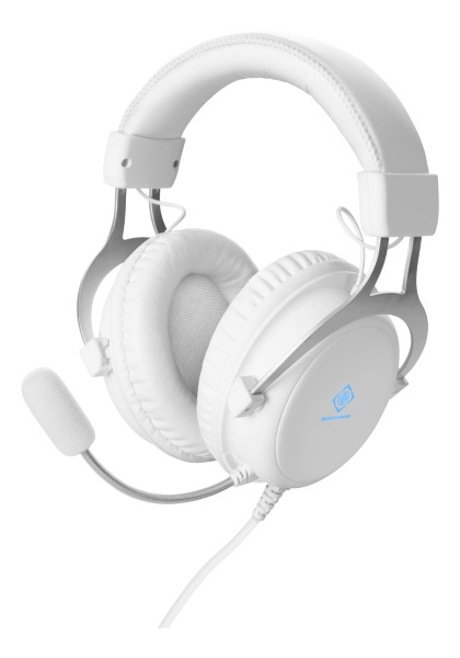 Deltaco WH85 Stereo Gaming Headset – Vit