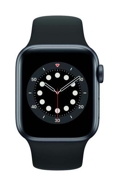 Apple Watch Series 6 - 40mm / GPS / Space Grey Aluminium Case / Black Sport Band (Fyndvara - Klass 1