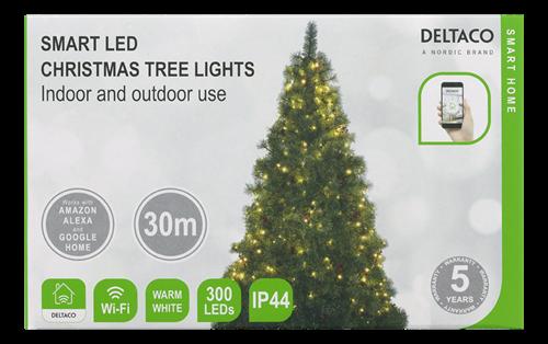 Deltaco Smart Home Julgransbelysning / inomhus / utomhus / varmvit - 2m