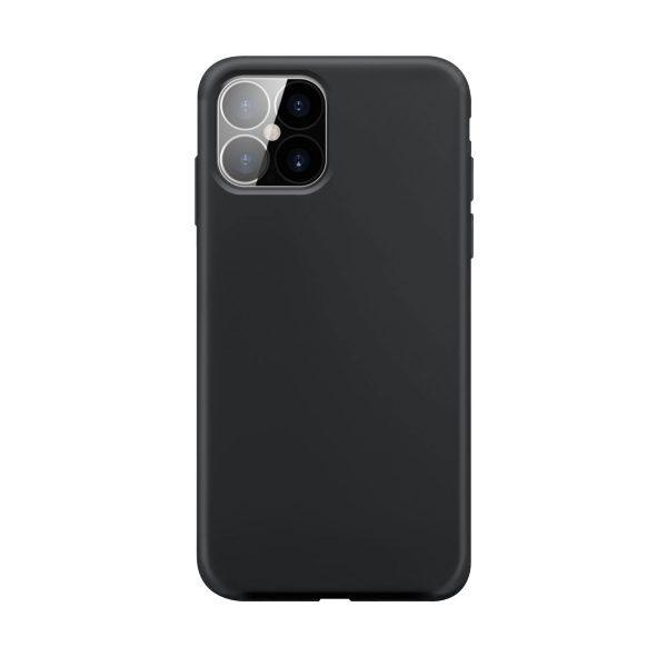 iPhone 12/12 Pro / XQISIT / Silikon / Antibakteriell – Svart (Fyndvara – Klass 1)