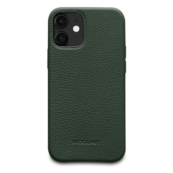 iPhone 12 Mini / Woolnut / Läderskal - Grön