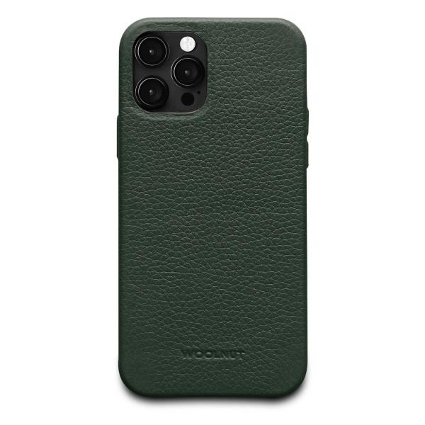 iPhone 12/12 Pro / Woolnut / Läderskal - Grön