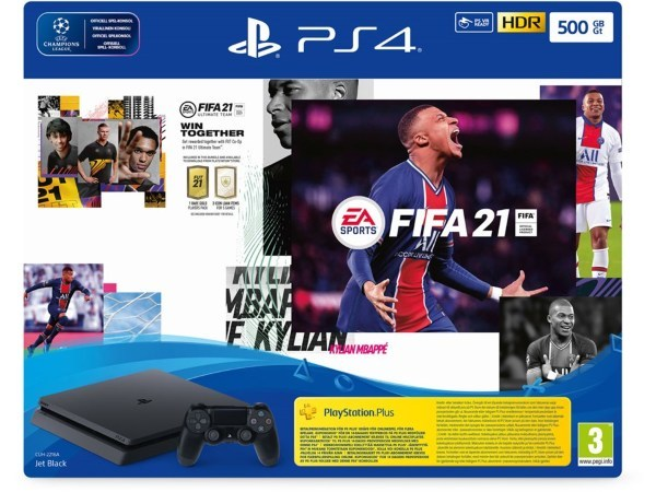 Playstation 4 Konsol (PS4) 500GB Slim Fifa 21 Bundle (Kartongskada)