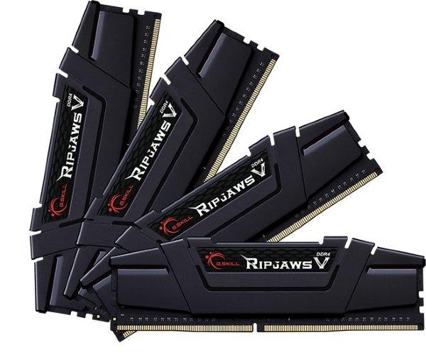 G.Skill RipjawsV 64GB (4x16GB) / 3600MHz / DDR4 / CL14 / Black