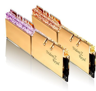 G.Skill Trident Z Royal 32GB (2x16GB) / 3600MHz / DDR4 / CL14 / Gold RGB