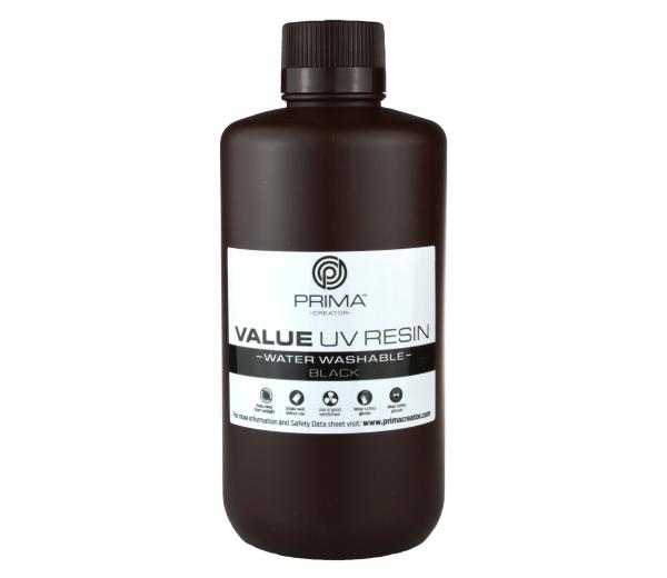 PrimaCreator Value Water Washable UV Resin / DLP Resin - 1000 ml - Svart
