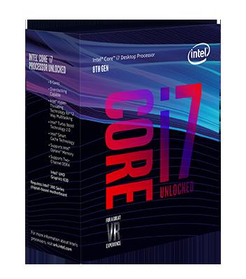 Intel Core i7-8700K – 12 trådar / 3.7GHz (4.7Ghz Turbo) / 12MB / Socket 1151 (Fyndvara – Klass 3)