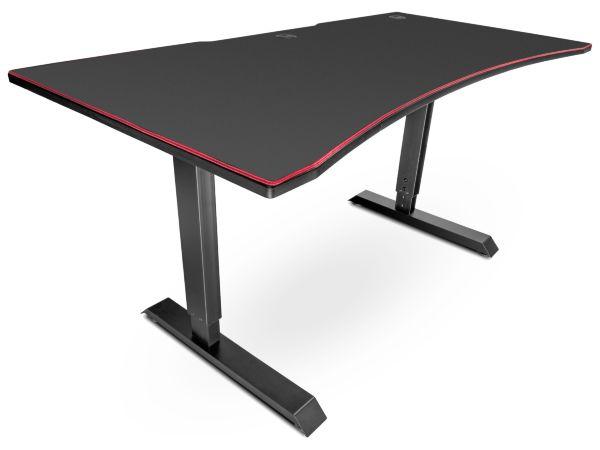 Svive Altair Gaming Desk - Mattsvart med röda sömmar