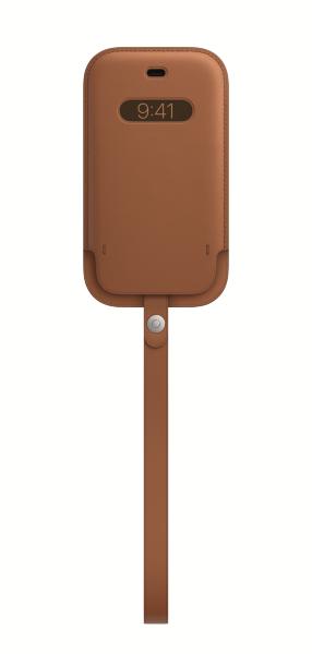 iPhone 12 mini Läder Sleeve med MagSafe – Saddle Brown