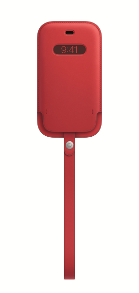 iPhone 12 mini Läder Sleeve med MagSafe - (PRODUCT)RED