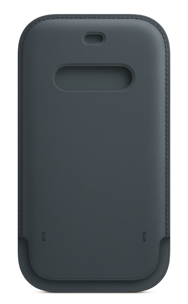 iPhone 12   12 Pro Läder Sleeve med MagSafe - Baltic Blue