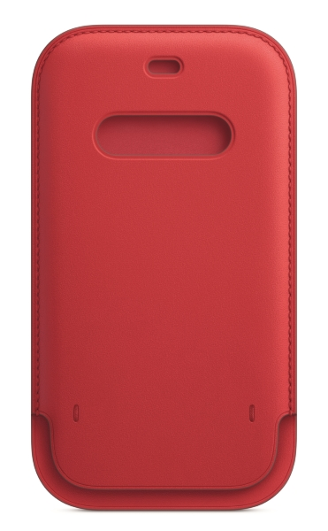 iPhone 12   12 Pro Läder Sleeve med MagSafe - (PRODUCT)RED