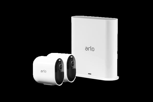 Arlo Pro 3 - Trådlöst 2K säkerhetssystem med 2 kameror - Vit (Fyndvara - Klass 3)