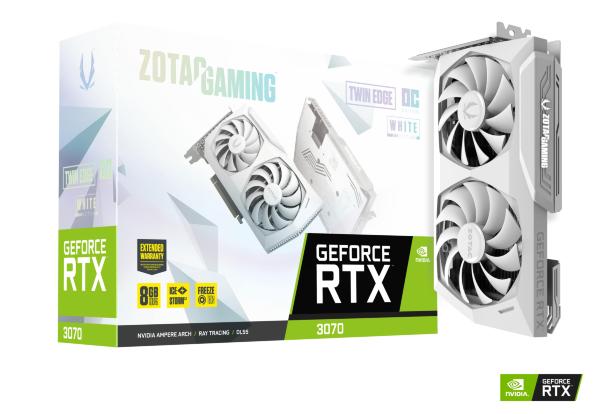 Zotac Gaming GeForce RTX 3070 Twin Edge 8GB OC White Edition