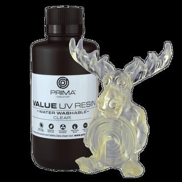 PrimaCreator Value Water Washable UV Resin / DLP Resin - 500 ml - Clear
