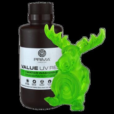 PrimaCreator Value Water Washable UV Resin / DLP Resin - 500 ml - Transparant grön