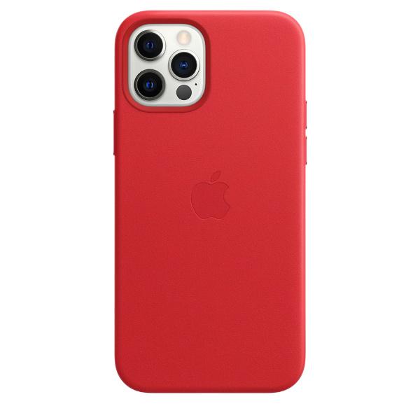 iPhone 12/12 Pro / Apple / Läderskal / MagSafe - (PRODUCT)RED