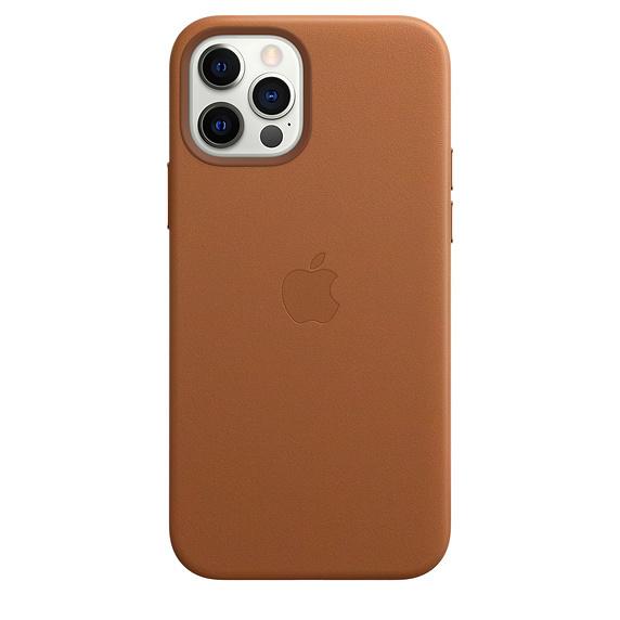 iPhone 12/12 Pro / Apple / Läderskal / MagSafe - Sadelbrun