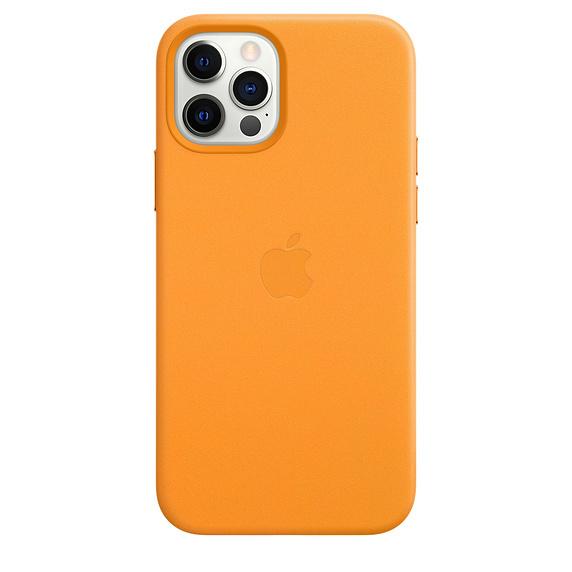 iPhone 12/12 Pro / Apple / Läderskal / MagSafe - California Poppy