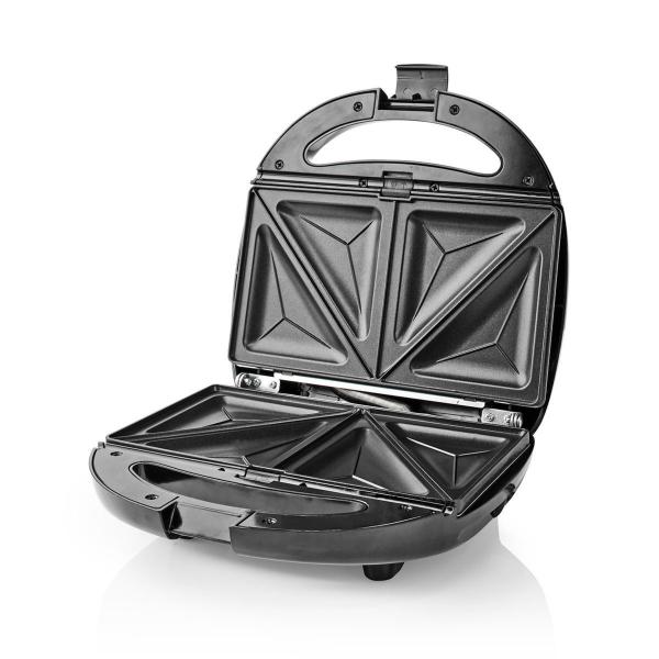 Nedis Multigrill / Smörgåsgrill/våffeljärn/grill / 800 W - Svart