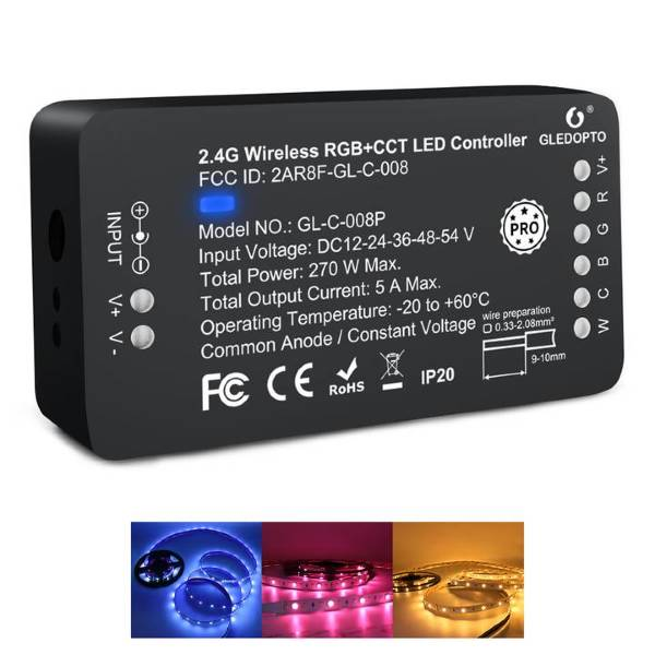 Gledopto PRO RGB+CCT Zigbee-controller för LED-lister