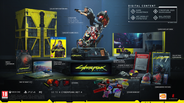 Cyberpunk 2077 Collectors Edition (Fyndvara - Kartongskada)